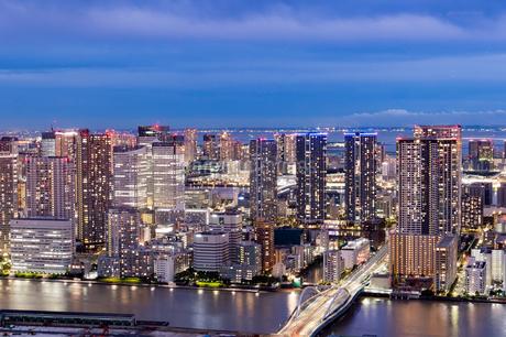 東京の夜景の写真素材 [FYI03408180]
