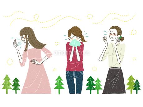 女性-花粉症-アレルギーのイラスト素材 [FYI03408264]