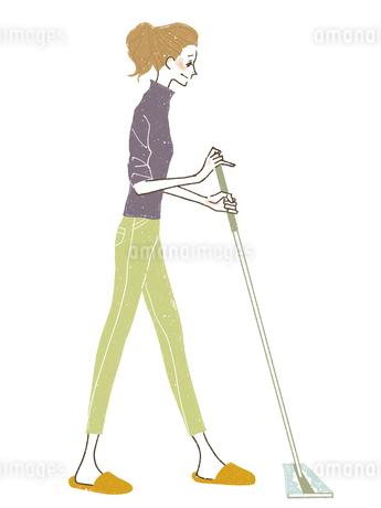 女性-掃除-ワイパーのイラスト素材 [FYI03408268]