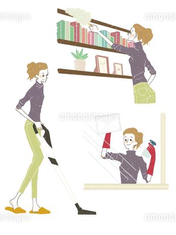 女性-掃除のイラスト素材 [FYI03408270]