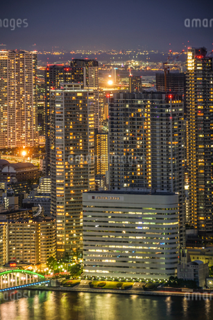 カレッタ汐留からの東京の夜景の写真素材 [FYI03408415]