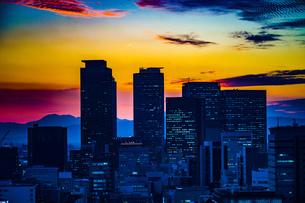 名古屋テレビ塔からの夕景の写真素材 [FYI03408586]
