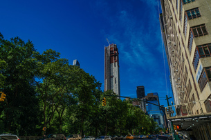 ニューヨーク・マンハッタンの街並みの写真素材 [FYI03408692]