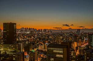 文京シビックセンターからの夕景(新宿方面)の写真素材 [FYI03408827]