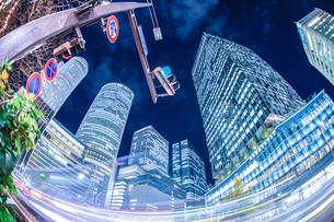 名古屋駅前の夜景の写真素材 [FYI03408851]