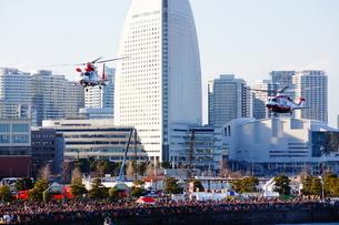 都会の消防訓練の写真素材 [FYI03408901]
