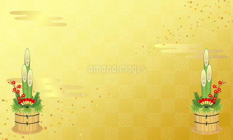 お正月イメージ 背景素材 07のイラスト素材 [FYI03409184]
