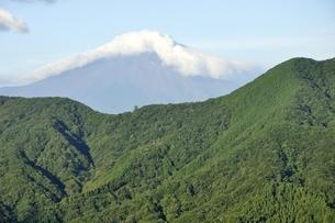 夏の富士山と鳥ノ胸山の写真素材 [FYI03409273]