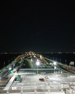 深夜の海ほたるSAの写真素材 [FYI03409475]