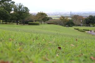 芝生の坂の写真素材 [FYI03409493]
