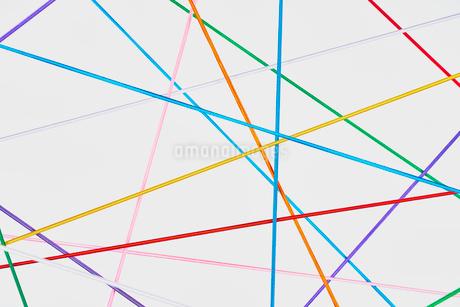 直線で複雑な繋がりをイメージの写真素材 [FYI03409674]