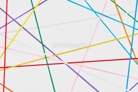 直線で複雑な繋がりをイメージの写真素材 [FYI03409675]
