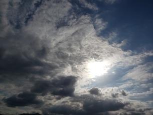 太陽を覆う雲の写真素材 [FYI03409944]