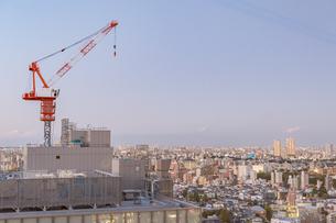 文京区から見た東京の夕暮れの写真素材 [FYI03410294]