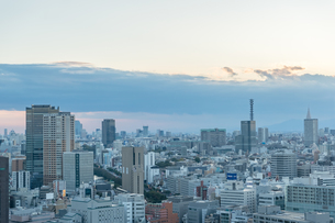 文京区から見た東京の夕暮れの写真素材 [FYI03410305]