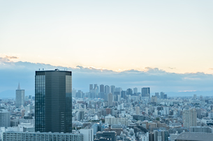 文京区から見た東京の夕暮れの写真素材 [FYI03410306]