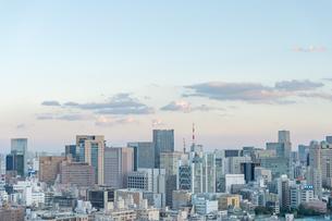 文京区から見た東京の夕暮れの写真素材 [FYI03410307]