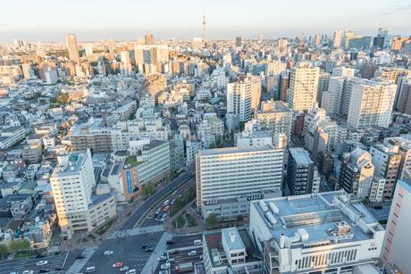文京区から見た東京の夕暮れの写真素材 [FYI03410312]