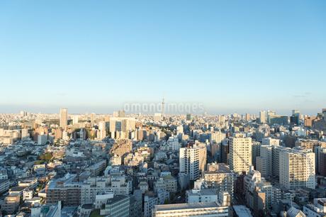 文京区から見た東京の夕暮れの写真素材 [FYI03410317]