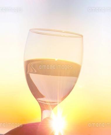 夕日と乾杯の写真素材 [FYI03410582]
