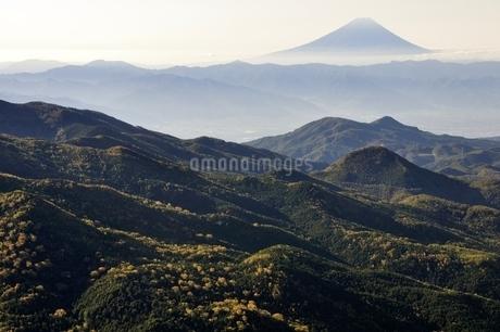 奥秩父から望む富士山の写真素材 [FYI03410780]