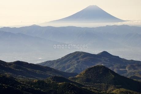 奥秩父から望む富士山の写真素材 [FYI03410781]
