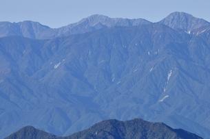 初冬の南アルプスの写真素材 [FYI03410792]