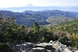 朝日岳より富士山の写真素材 [FYI03410808]