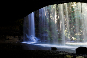 鍋ヶ滝 日本 熊本県 小国町の写真素材 [FYI03411102]