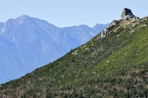 山梨県の山 金峰山と甲斐駒ヶ岳の写真素材 [FYI03411426]