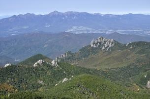 金峰山より八ヶ岳連峰と瑞牆山の写真素材 [FYI03411443]