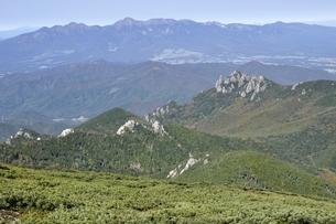 八ヶ岳連峰と瑞牆山の展望の写真素材 [FYI03411457]