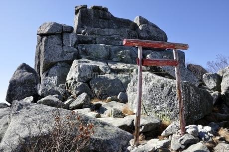 金峰山の五丈岩の写真素材 [FYI03411490]