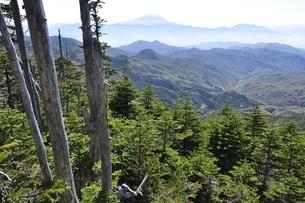 奥秩父の朝日岳より富士山眺望の写真素材 [FYI03411734]