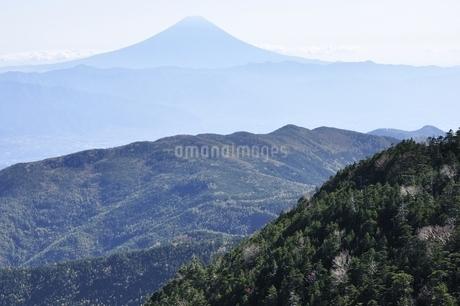 国師ヶ岳より遠望富士山の写真素材 [FYI03411762]