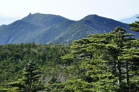 国師ヶ岳より望む金峰山の写真素材 [FYI03411767]