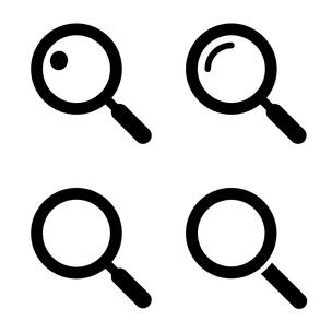 虫眼鏡アイコンセットのイラスト素材 [FYI03412142]