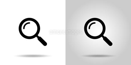 虫眼鏡アイコンセット のイラスト素材 [FYI03412144]