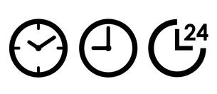 時計と24時間 アイコンセット のイラスト素材 [FYI03412153]