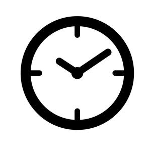 時計アイコンのイラスト素材 [FYI03412154]