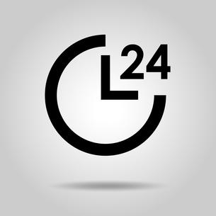 24時間のアイコンのイラスト素材 [FYI03412155]
