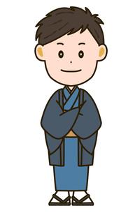 着物姿の男性 イラストのイラスト素材 [FYI03412198]
