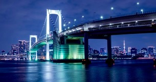 レインボーブリッジ 日本 東京都 港区の写真素材 [FYI03412257]