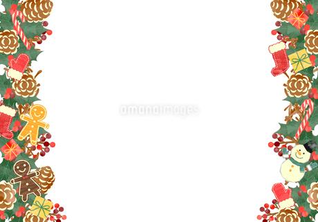 手描き水彩風 クリスマス フレーム04のイラスト素材 [FYI03412398]