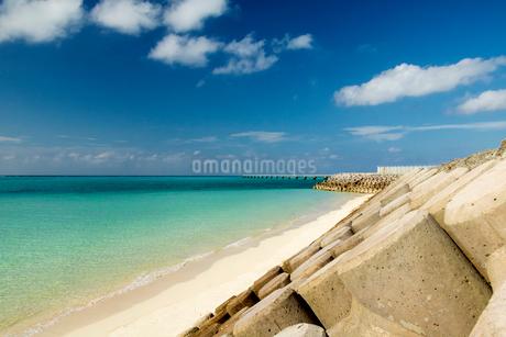 テトラポットのある海岸の写真素材 [FYI03412516]