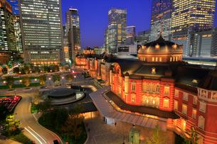 東京駅丸の内赤レンガ駅舎の写真素材 [FYI03412535]
