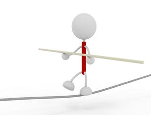 綱渡りするキャラクターのイラスト素材 [FYI03412673]