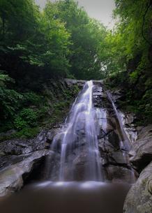 桑原の滝  四徳川 日本 長野県 中川村の写真素材 [FYI03412710]