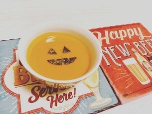 笑スープ(かぼちゃ)の写真素材 [FYI03413505]