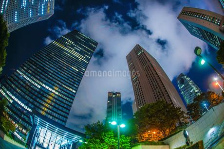 東京新宿の高層ビル群の夜景の写真素材 [FYI03413521]